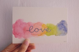 love embossed
